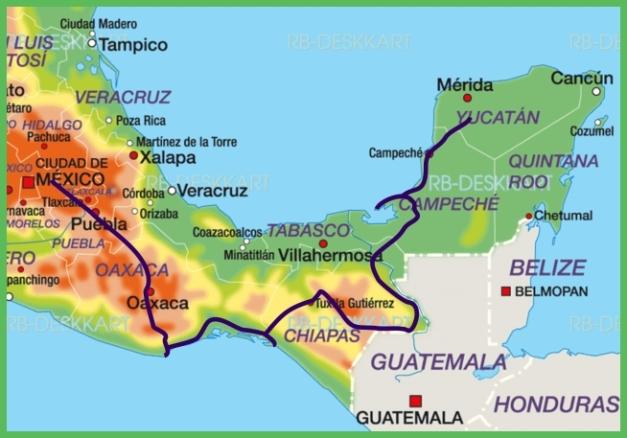 Map Mexico Januar