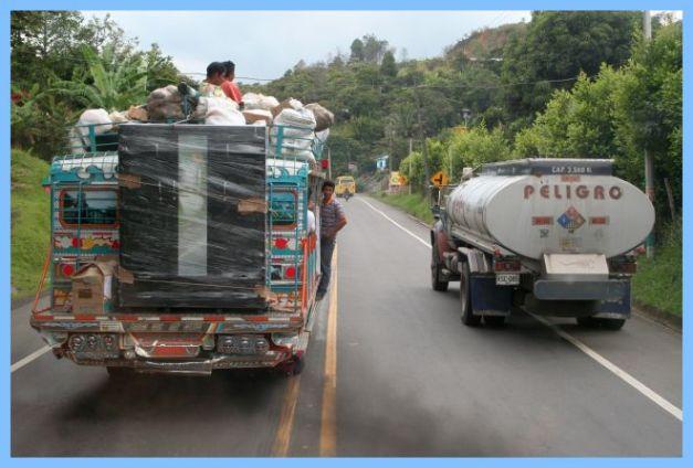 Großtransport kolumbianisch